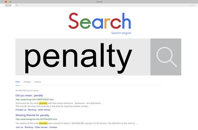Penalty Fine Punishment Retribution Rules Sanction Concept